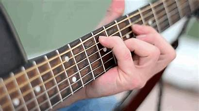 Guitar Strings Vibrating Shutter Close Rolling Using