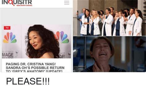 News Worth Sharing Tv Mage Paging Dr Cristina Yang! Sandra
