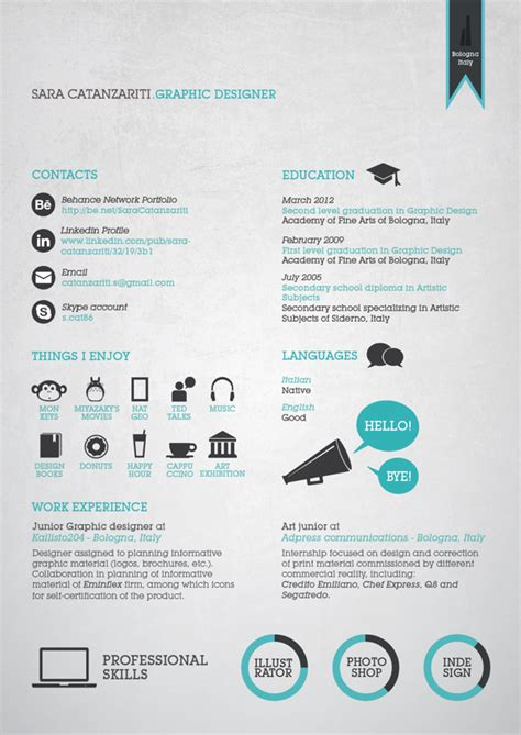 Graphic Resume Layouts by 26 Best Graphic Design Resume Tips With Exles