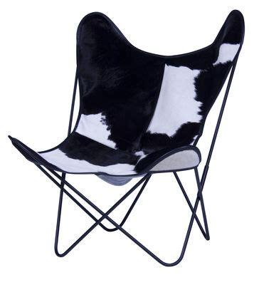 fauteuil aa butterfly cuir structure noire structure