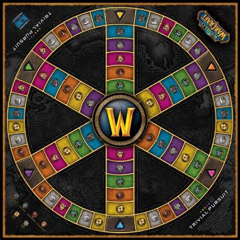 trivial pursuit world  warcraft edition board game