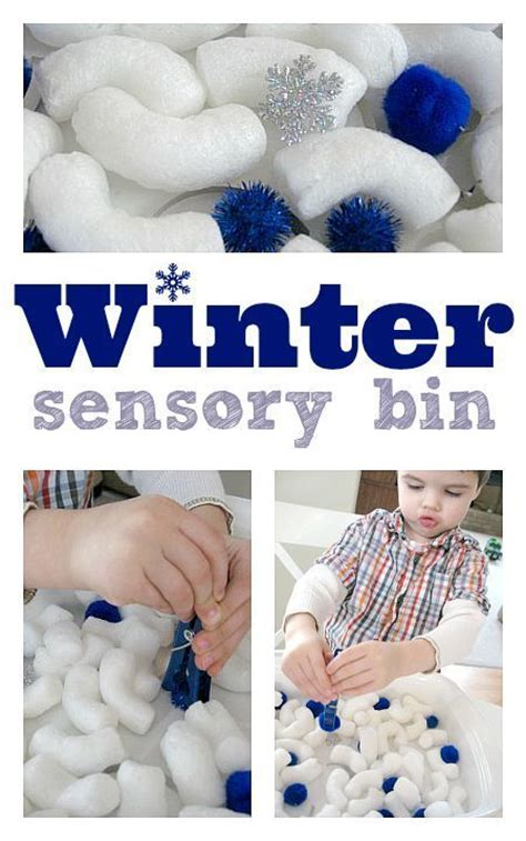 easy winter sensory bin winter activities  toddlers
