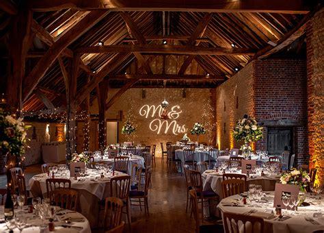 the best barn wedding venues in surrey chwv