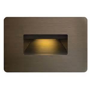 luna 12v led step light by hinkley lighting 15508mz With outdoor deck lighting 120v