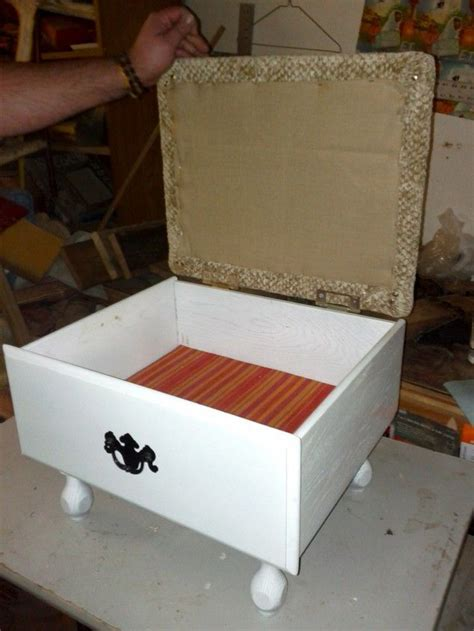 Padded Footstool With Storage by How To Build A Footstool With Storage Woodworking