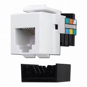 Leviton White Rj11 Usoc Telephone Jack For Quickport Frames
