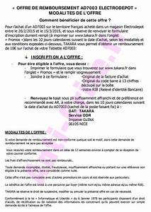 Offre De Remboursement : offre de remboursement odr takara 10 sur tablette ~ Carolinahurricanesstore.com Idées de Décoration