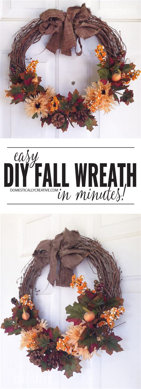 Easy Fall Wreath  Domestically Creative