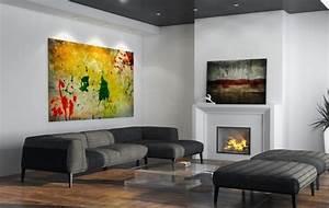 Tableau Moderne Salon : tableaux d co comment choisir l 39 art dans le salon moderne ~ Teatrodelosmanantiales.com Idées de Décoration