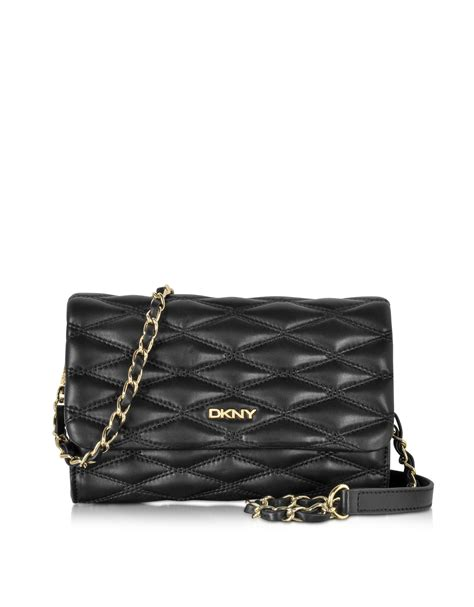 quilted crossbody bag dkny black quilted leather small flap crossbody bag in