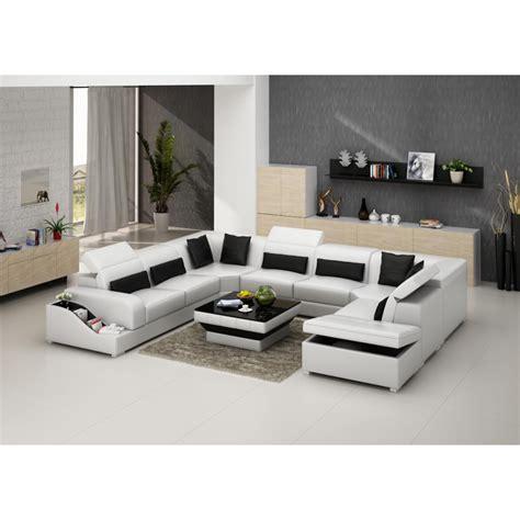 canapé d angle mistergooddeal canapé d 39 angle panoramique en cuir jazz 8 places avec