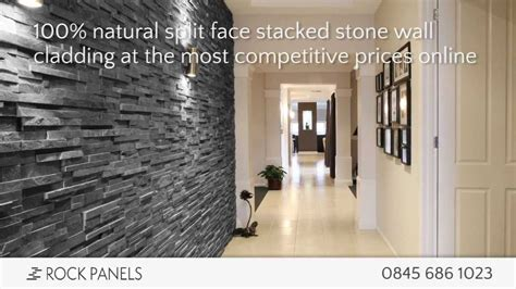 rock panels stacked stone wall cladding split face