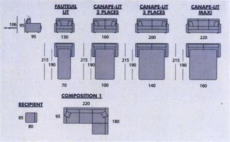 canapé deux places cuir lit deux places largeur