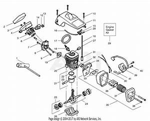Poulan Pp210 Gas Saw  210 Gas Saw Parts Diagram For Engine