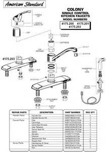 glacier bay kitchen faucet parts plumbingwarehouse american standard commercial