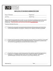 free resume template word document employee of the month nomination form 5 free templates in pdf word excel download