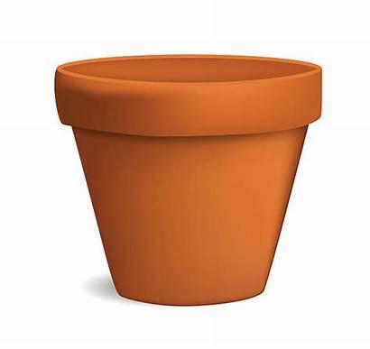 Pot Flower Clipart Empty Vector Plant Clip