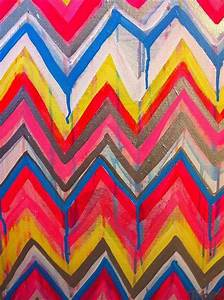 Custom ikat chevron 16x20 painting by jennifer by for Chevron template for painting