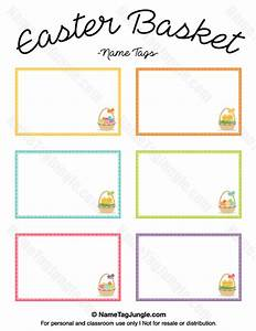 printable easter basket name tags With easter name tags template