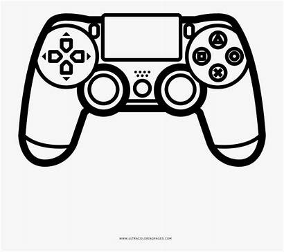 Ps4 Controller Coloring Clipart Clipartkey