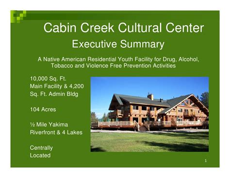 cabin creek clinic cabin creek cultural center power point 08 01 09