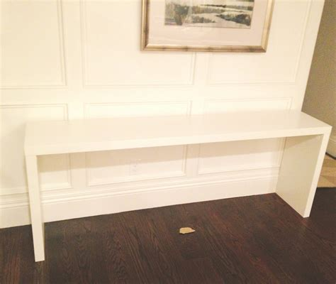 White + Gold Ikea Hack  Malm Table To Grasscloth Console