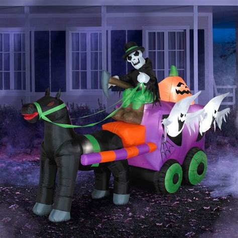 8 5 airblown inflatable blow up halloween stage coach