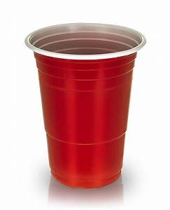 AMERICAN 16OZ PLASTIC RED PARTY CUPS BEER PONG ...