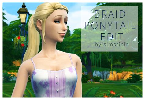 The Sims 4 Custom Content Braid Ponytail Edit
