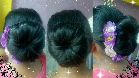 easy elegant hair bun  mediumlong hair tutorial