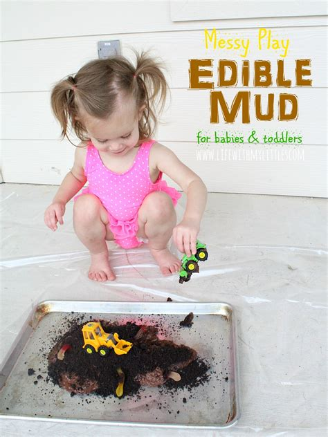 messy play  edible mud  babies  toddlers life   littles