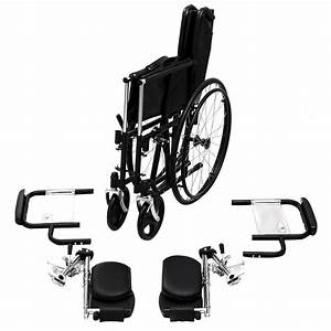 Giantex Manual Folding Medical Transport Wheelchair W