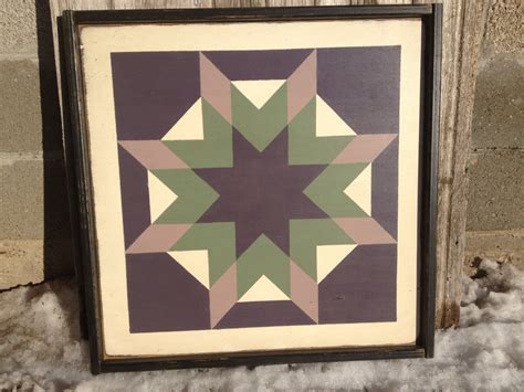 Painted Barn Quilts by Primitive Painted Barn Quilt Framed 2 X 2