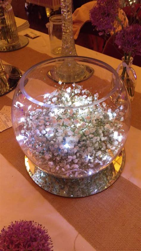 gypsophila fishbowl  fairy lights fairy lights