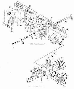 Simplicity 1690072 - 9020  19 5hp Onan Gear Parts Diagram For Transmission Group