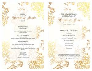 wedding invitation fonts free gold floral vow renewal invitation