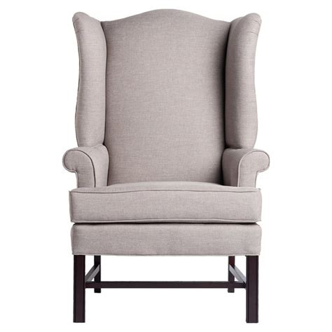 chippendale wingback chair jitterbug linen cherry dcg