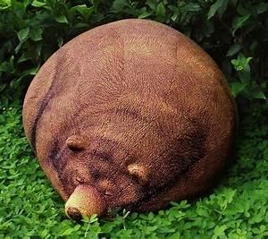 Big Sleeping Grizzly Bear Bean Bag - Neatorama