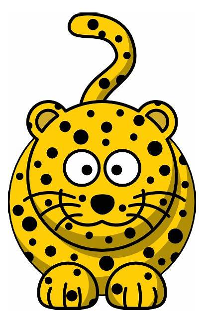 Leopard Cartoon Clip Clipart Clker Svg Hi