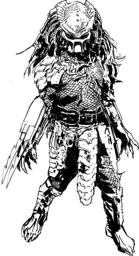 Predator by Bill Sienkiewicz * | Predator art, Predator