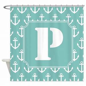 nautical monogram letter p shower curtain by With kitchen colors with white cabinets with monogram letter stickers