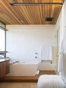 wood paneled ceiling modern bathroom moodboard