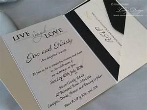 modern wedding invitation a6 pocketfold 25x wedding With wedding invitations rsvp card in envelope