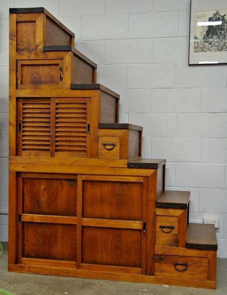 japanese antique vintage display cabinets tansu