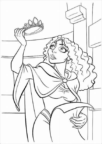 Coloring Pages Tangled Disney Rapunzel Printable Princess
