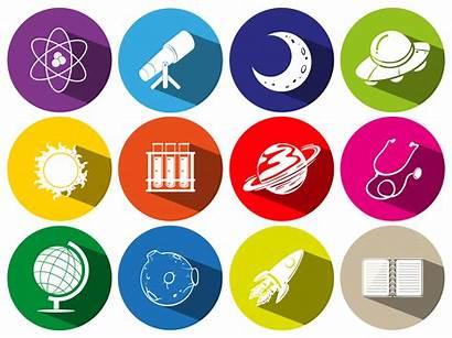 Symbols Icons Round Vector Sciece Symbol Technology