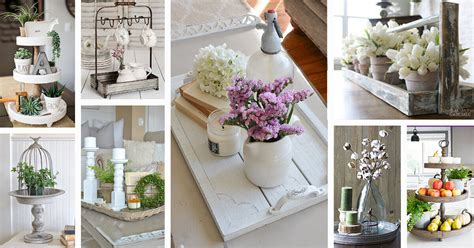 farmhouse style tray decor ideas  designs