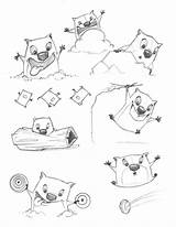 Stew Template Coloring Pages Sketch Wombats Feelings Too sketch template