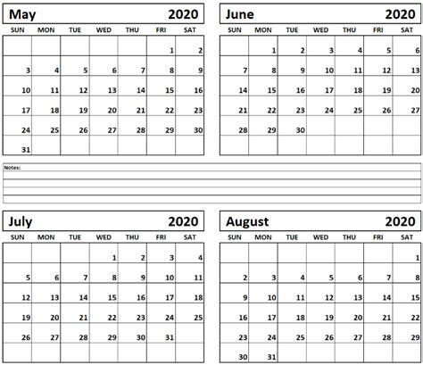 printable calendar months page calendar