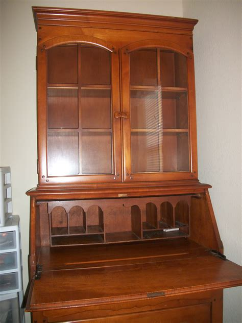antique drop front secretary desk with hutch decorative
